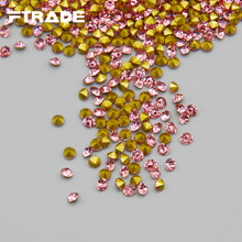 New SS6-SS20 Light pink Color Point Back Rhinestones 1440pcs bag Crystal  Chaton Glue Beads Stones for Nail Art Craft Gems 4507373f9500