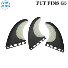 Future G5 Surfing Fin Fiberglass Honeycomb Black and White Color Fins Customized Surfboard