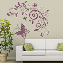 Butterfly Floral Vinyl Wall Stickers Embellishment Butterflies & Insect Wall Sticker Home Art Decals Hot Selling Mural SA318