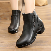 Female Boots Women Winter Warm Shoes 2017 New Arrival Metal Decoration Ladies Ankle Boots Waterproof Snow
