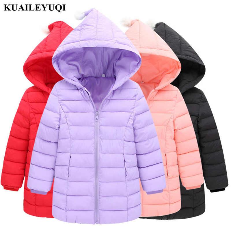 Новинка 2019 года, весенне-осеннее легкое тонкое пальто для детей возрастом от 1 года до 6 лет пуховые хлопковые куртки для девочек зимняя одежда с подкладкой и капюшоном для маленьких девочек