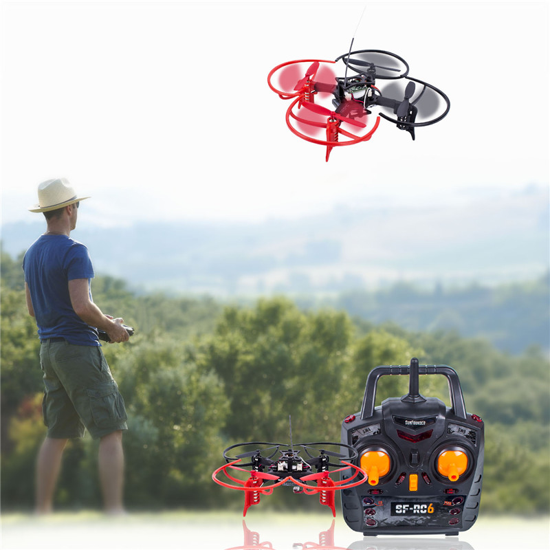 SunFounder RC Remote Control 6DX Mini FPV Racing Drone Quadcopter STEM Education Programming RC Drone yizhan i8h 4axis professiona rc drone wifi fpv hd camera video remote control toys quadcopter helicopter aircraft plane toy
