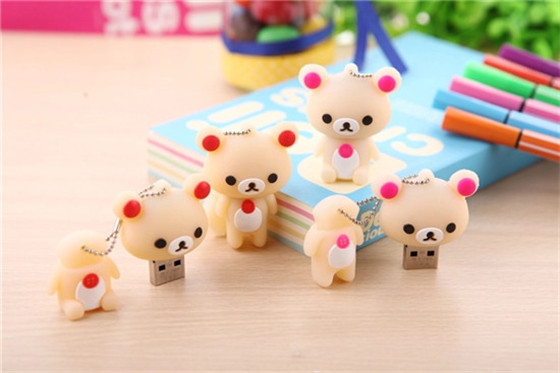 Usb Stick pink and brown teddy bears couple bears USB Flash 2.0 Memory Drive Stick Pen/Thumb/Car S95