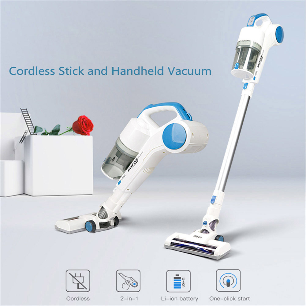 Dibea ST1601 Portable Vacuum Cleaner Cordless 2-in-1 Light Weight Ergonomic Handheld Cleaning Two speed Control For Home Office