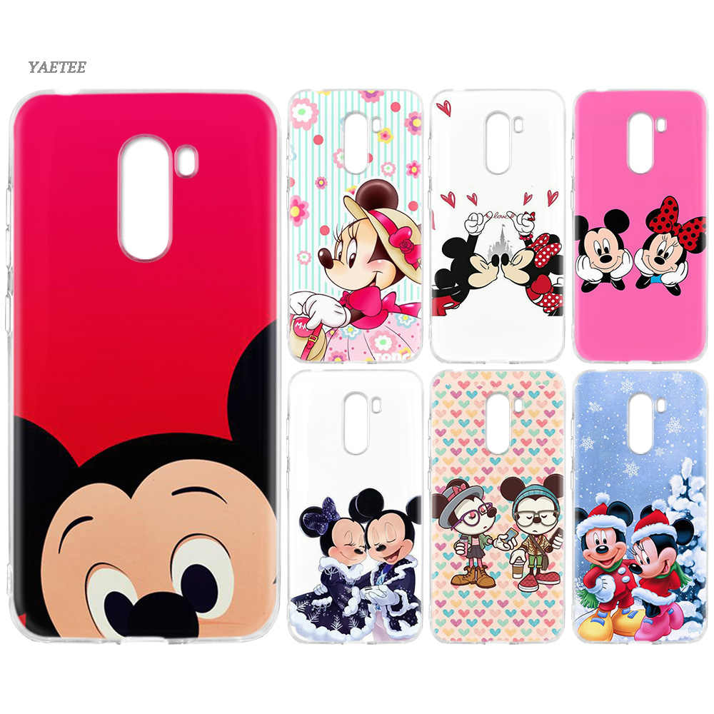 Mickey Minnie Mouse Christmas Silicone Back Case For Xiaomi Pocophone F1 Mi 8 lite Play Redmi GO 5 Plus Note 7 6 Pro 5A Cover