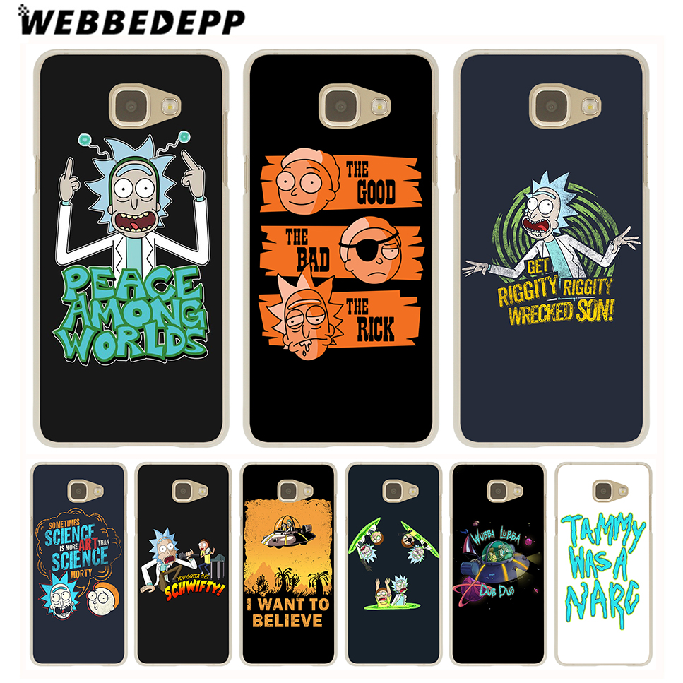 WEBBEDEPP Funny Cartoon Comic Meme Rick And Morty Hard Case for Galaxy A3 A5 2015 2016 2017 A6 A8 Plus 2018 Note 10 Plus 8 9 image