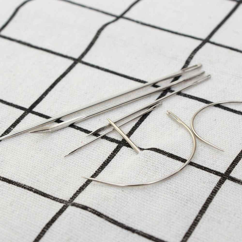 Aço inoxidável Agulhas De Costura de Costura Tecido Bodkin DIY Sacos de Roupas de Vestuário para Cobertores Sofás de Couro Do Assento de Carro 7 pçs/set