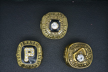 1960 1971 1979 Pittsburgh Pirates Gold Plated  Championship Rings