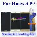 Alta Qualidade New Display LCD + Touch Screen Digitador Assembléia Vidro para huawei p9 telefone celular 5.2 polegada ferramentas de ouro preto branco