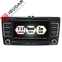 Android 7 1 1 Two Din 7 Inch Car DVD Player For SKODA Octavia 2009 2013