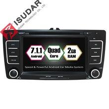 Android 7.1.1 Deux Din 7 Pouce Lecteur DVD de Voiture Pour SKODA/Octavia 2009-2013 Canbus RAM 2G ROM 16G WIFI GPS Navigation Radio USB FM