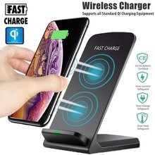 Charger Wireless Qi Charger untuk iPhone 8 8 Plus X XS XR X Max untuk Samsung Galaxy Note 8 s8/S8 Plus S7/S7 Edge S9/S9 Plis(China)