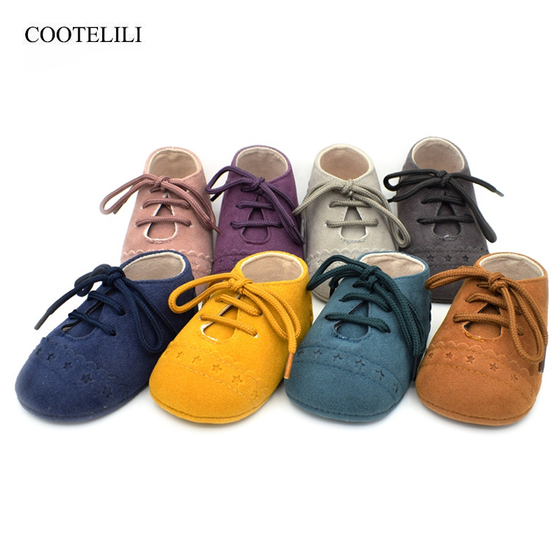 COOTELILI Baby Shoes Baby Moccasins Newborn Shoes Soft Infants Crib Shoes Sneakers First Walker Suede Leather Baby Girl Shoes