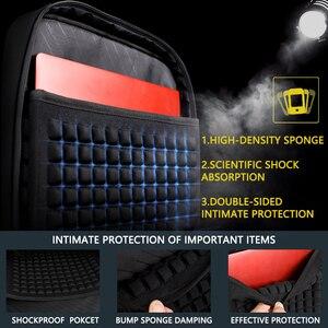 Image 3 - Shockproof Mens USB Charging Anti Theft Backpacks Waterproof 15.6 inch Black Male Laptop Bagpacks Multifunction Travel Bags