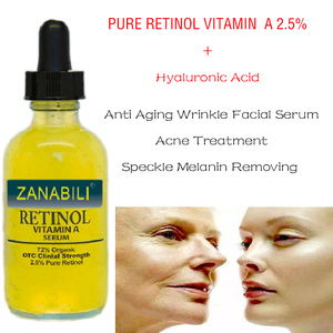 Image 2 - Pure Retinol Vitamin A 2.5% + 60% MATRIXYL 3000 HYALURONIC ACID RETINOL Facial Serum Moisturizing Anti Wrinkle Face Cream  2pcs
