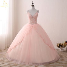 Bealegantom New Real Photo V neck Vestidos Quinceanera 2019 vestido de Baile UM Doce 16 Vestido Vestidos De 15 Años QA1304(China)