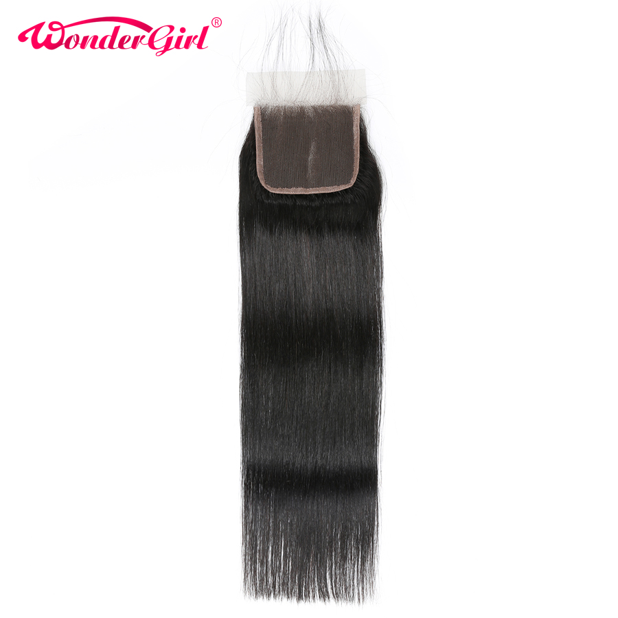 Three Middle Free Part Peruvian Straight Closure 4x4 Lace Closure 100 Human Hair Closure With Baby