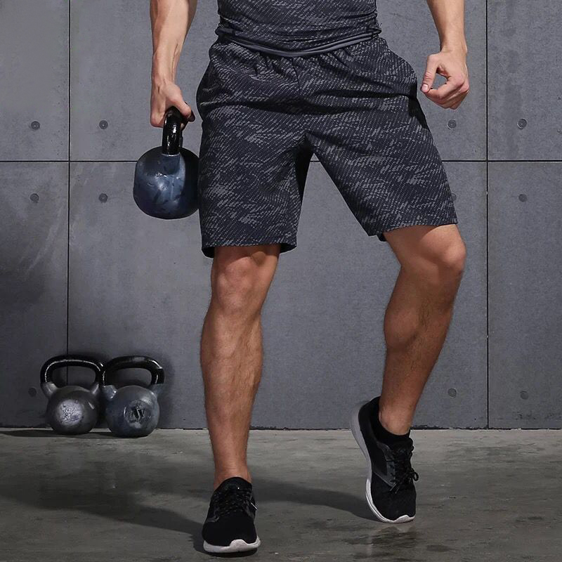 Plus Size Men Running Shorts Jogging Training Sportswear Quick Dry Fitness Exercise Gym Sports Shorts With Pocket MBF75701