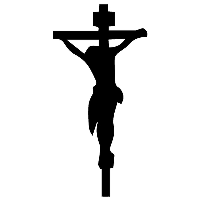 75cm156cm Jesus Christ Cross Symbol Jdm Funny Vinyl Decal Sticker
