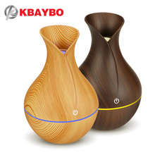 KBAYBO electric humidifier aroma oil diffuser ultrasonic wood grain air USB mini mist maker LED light for home office