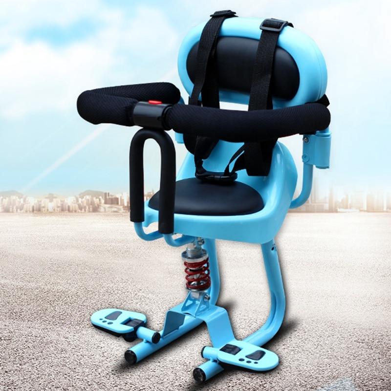 Ребенок мотоцикл электрический велосипед безопасности сиденье спереди Электрический стул Батарея скутер безопасности малыша место ...