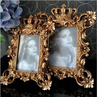 UBRUSH Creative photo frame gold silver 7 inch 6 inch 4 European photo frame resin 21.5*28.5cm 26*32 cm Frame