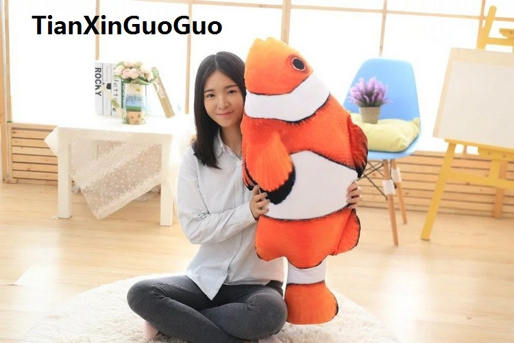 large 100cm Clown fish plush toy Creative toy pillow washable sleeping pillow birthday gift w2623