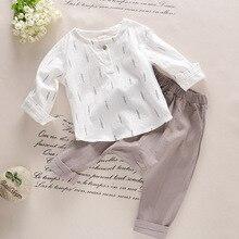 Children Boys Girls Set Kids Long / Short Sleeve T-shirt + Long / Short Pant Two-piece Casual Sport Suits Children Clothing