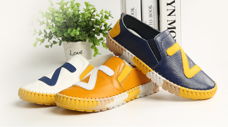 Autumn new boys fashion leather shoes single shoes bean shoes for children