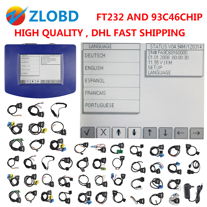 FTDI 2018 Top DHL free v4.94 digiprog iii odometer correction Digiprog 3 mileage correction tool Programmer Full V4.94 Digiprog3
