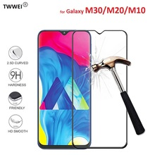 цены Protective Glass on the for Samsung Galaxy M20 M30 M10 Glass Tempered Glass for Samsung M20 M10 M30 Screen Protector Film Foil