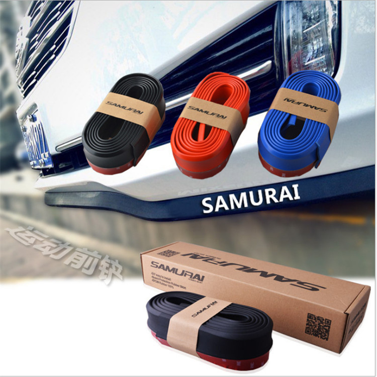 2.5 Mt auto-styling front lip bumpeer rubber sticker. for Nissan MURANO MAXIMA ALTIMA LEAF GR-R 370Z NV200 MICRA NOTE EVALIA