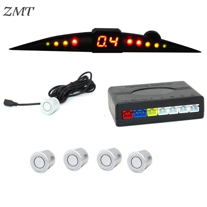 LED Car Inverter Radar Moontooth Reverter Sistema de Sensor de Estacionamento Indicador De Alerta Som Sonda Sistema Parktronic Sensores 12V Z02
