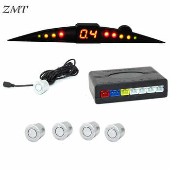 LED de voiture Radar de recul système de capteur de stationnement inverse en dents de lune indicateur d'alerte sonore système de sonde capteurs Parktronic 12V Z02