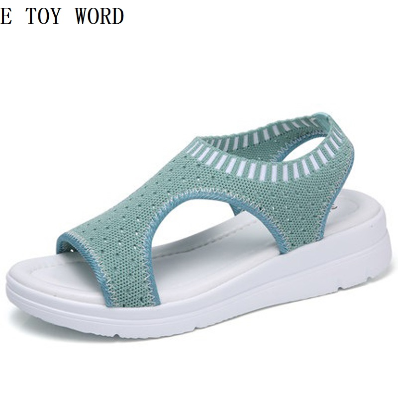The new 2018 hole hole shoes female summer beach jelly gradient pregnant women antiskid flat sandals, slippers and fish