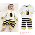 newborn baby clothing set striped toddler baby pajama set long sleeve t shirt tops pants outfit soft cotton baby clothes