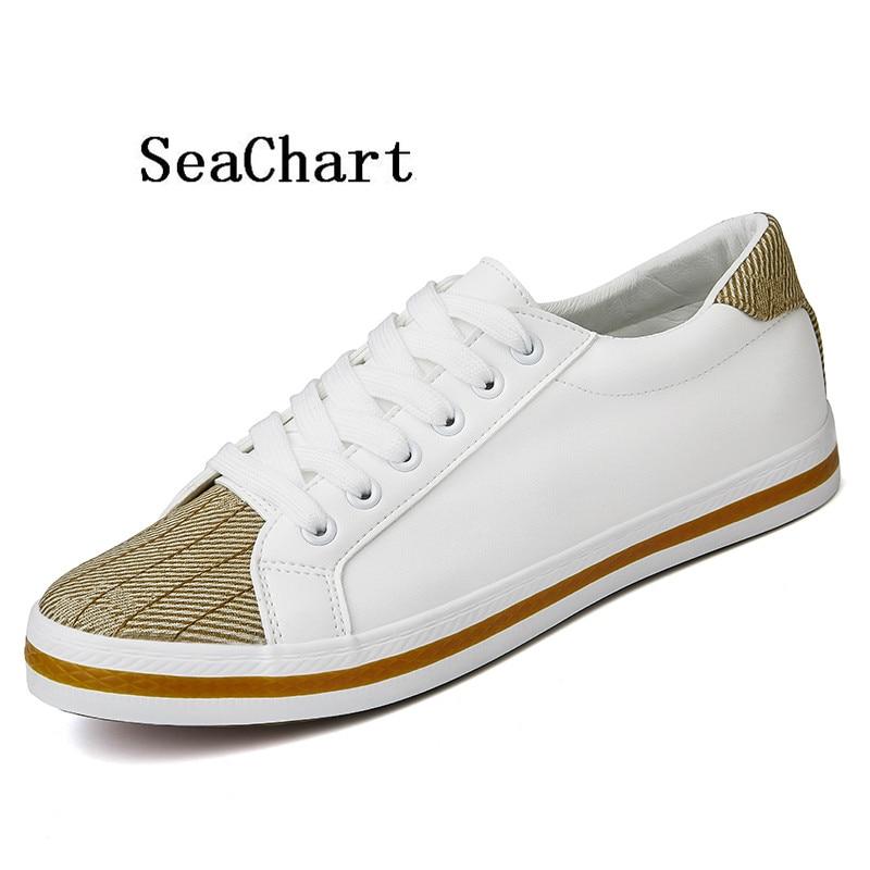 Prix pour SeaChart Hommes de Planche À Roulettes Chaussures Sneakers Hommes Chaussures Femmes Chaussures Plates de Femmes Europen Shell Bout Vague Ligne 35-44 D'été Vente Chaude