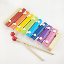 New Beautiful Children's Percussion Piano Toy Wooden Puzzle Music Education Hand Knock Piano Early Education Instrument цены