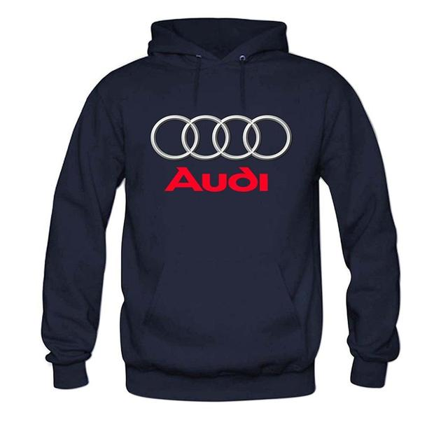 Hooded Sweatshirt With Audi Logo (4 Colors)
