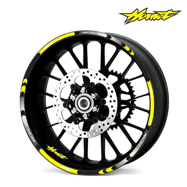 7 estilo de la rueda de la motocicleta llanta de neumático pegatinas 17 pulgadas rueda para Honda Hornet CB400 CB599 CB600 CB750 CB900 CB919 CB1000R