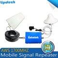 4g AWS 4g 1700 mhz Reforço de Sinal de Telefone Celular Repetidor de Sinal Com Antena Cabo Conjunto Completo, Amplificador de Sinal de Telefone móvel 4G
