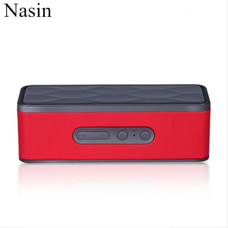 Nasin GS805 Outdoor Portable Subwoofer Card Wireless Bluetooth Speaker for xiaomi samsung huawei iphone niub5 n1000 altavoz bluetooth dsp maxxaudio smart subwoofer 20w portable nfc touch wireless bluetooth speaker for xiaomi iphone