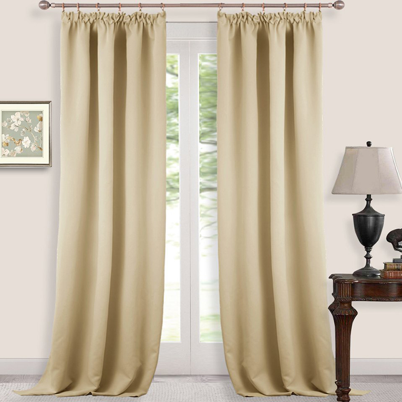 Blackout Pencil Pleat Windows Curtains Home Decoration Energy Saving Darkening Thermal Insulated ForNursery Baby In From Garden