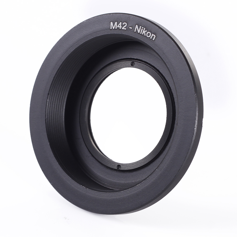 M42 lente tornillo modelo F montaje anillo adaptador con vidrio foco D810 D750 D7200 D3300 D5500 D3200 Cámara adaptador