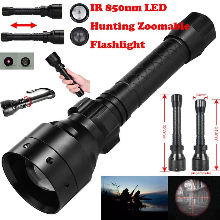 High Quality Long Range Infrared 10W IR 850nm T50 LED Hunting Light Night Vision Torch 18650