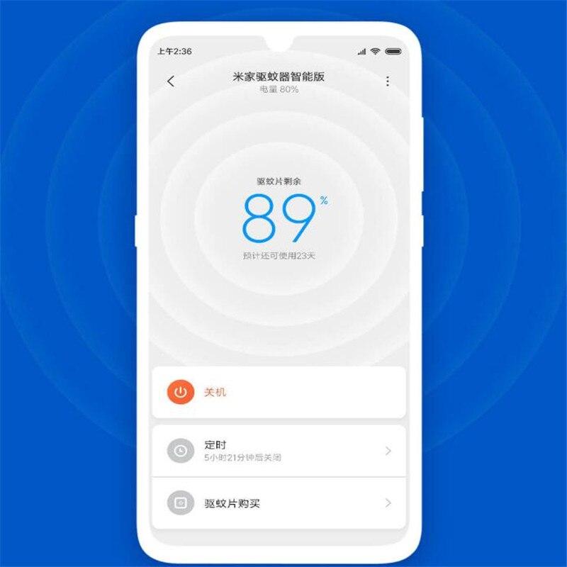 רשימת הקטגוריות Xiaomi Mijia נגד יתושים דוחה רוצח חכם גרסה מתג טיימר טלפון עם עבודה ימים 90 שימוש אור LED ב mihome AP (4)