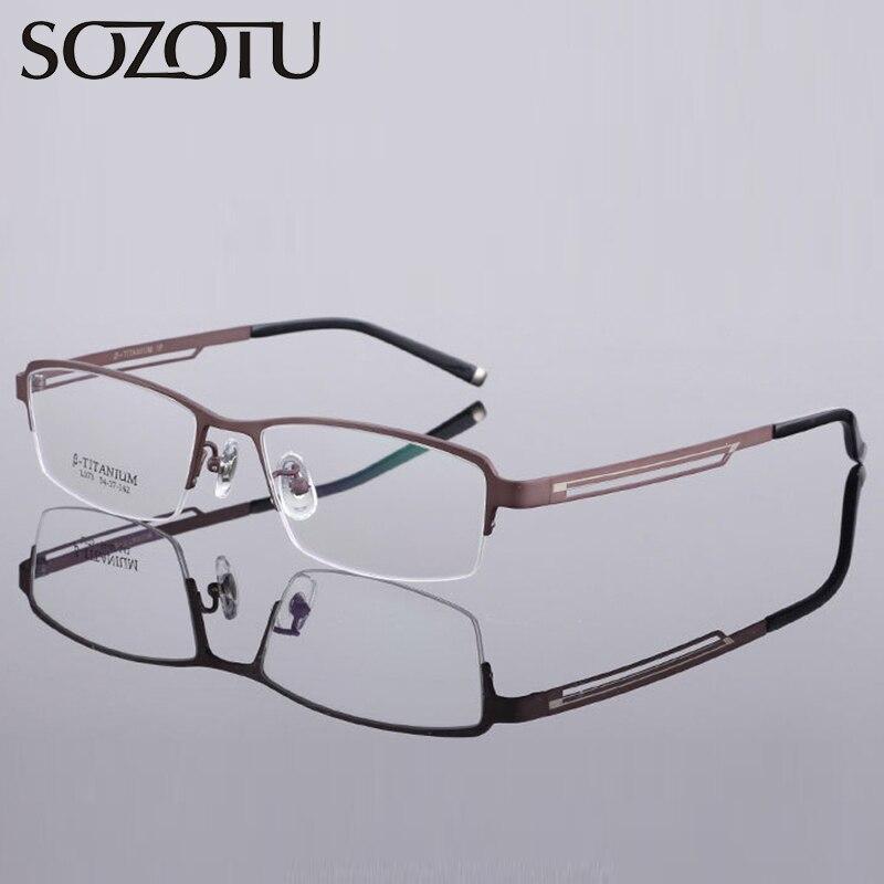 91d807619883e Ultraleve de Titânio puro Armação de óculos Homens Miopia Óculos Computador  Óptico Lente Clara Óculos de