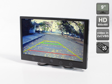 Premium Car 9″ HD (800×480)  Monitor for on-dash or build-in installation, AVIS Electronics  AVS0906BM