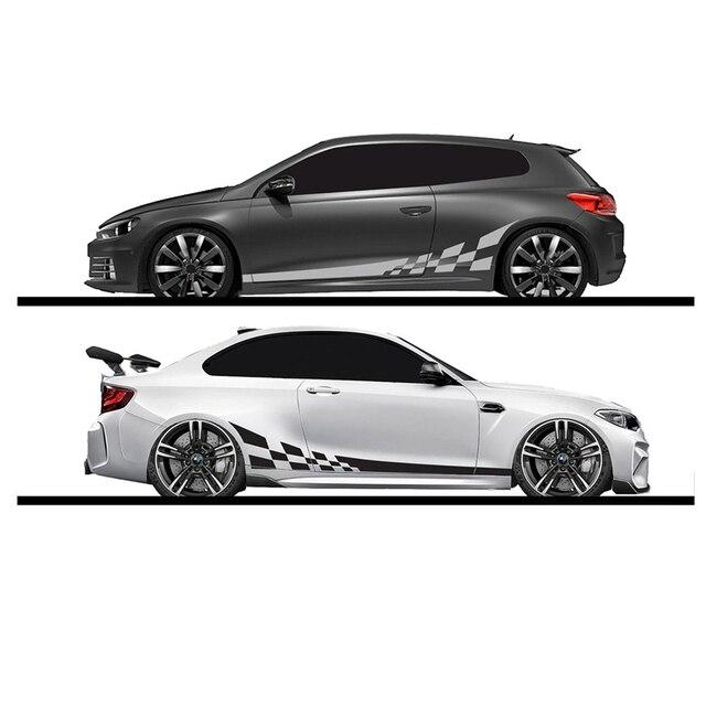 2pcs lot 220x25cm Car DIY Both Sides Stickers Race Stripes Camouflage Automobiles Products Car Wrap Vinyl