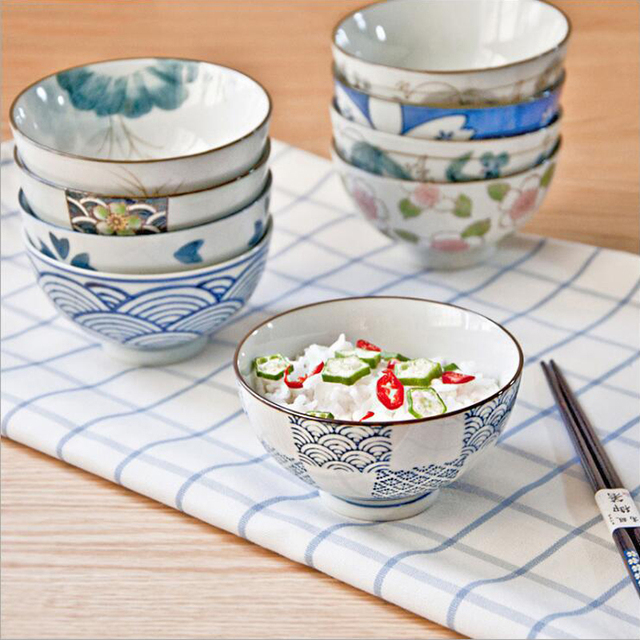japanische keramik suppe reis sch ssel kreative hand. Black Bedroom Furniture Sets. Home Design Ideas